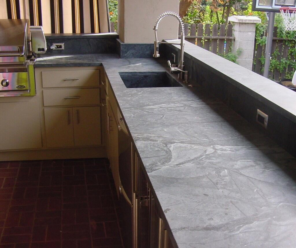 Kitchen Countertops Product : Interior with soapstone application mirrors classical