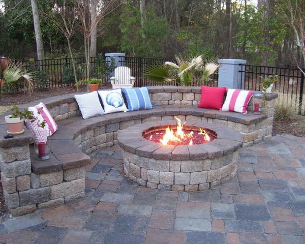 patio with fire pit shares beautiful awe with personality richness