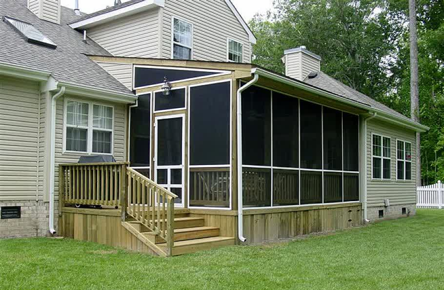Enjoy contended relaxing moments by designing screened in porches at your house homesfeed Screened porch plans designs