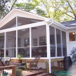pictures of screened in porches with clear glazing and terrace chairs with fan and glass windows and door