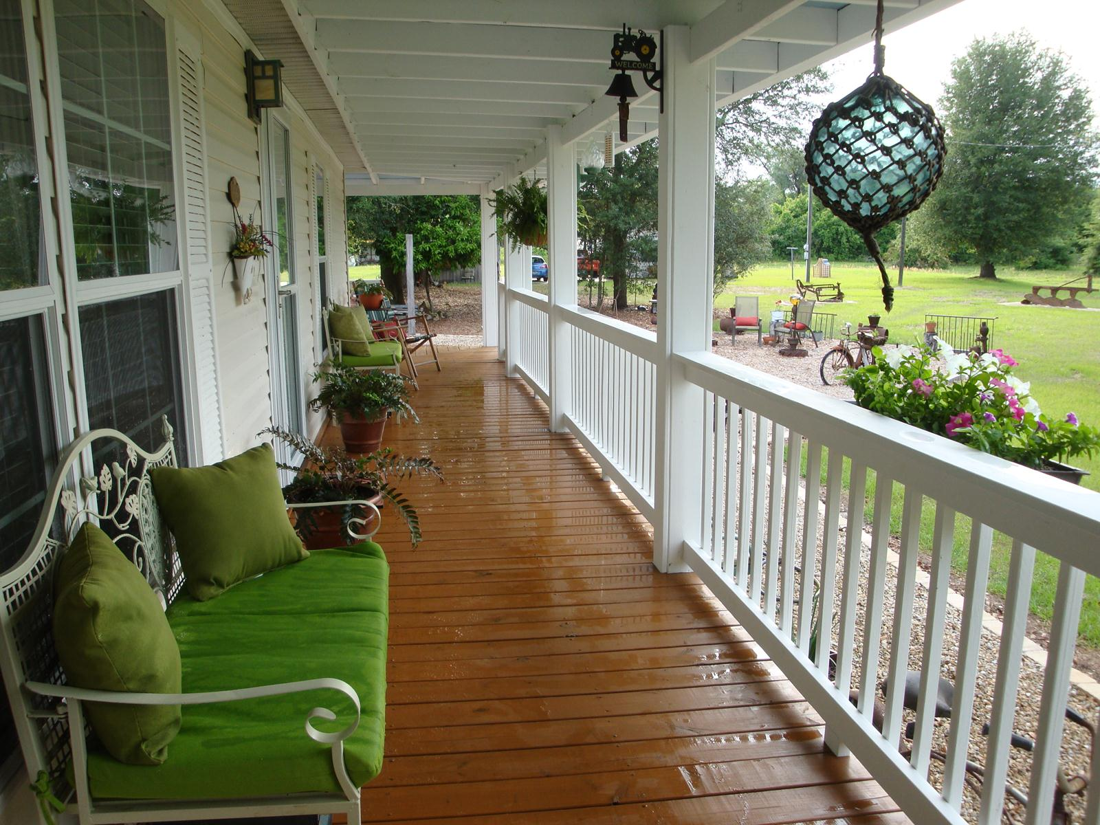 Front porch designs for mobile homes homesfeed for Patio porch designs
