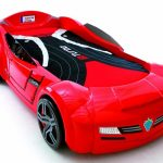 red ferrari race car beds for toddlers with black and red bed sheet for boys