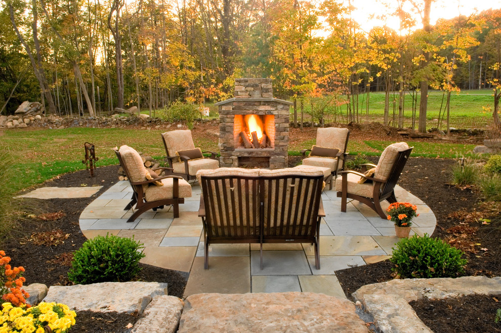 Patio With Fire Pit Shares Beautiful Awe With Personality Richness - Fire and patio place