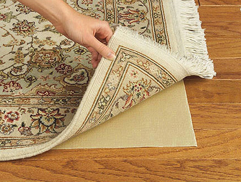 rubber rug best rug pad for hardwood floors in light brown and beige modern  rug - Give Your Favorite Rug Extra Protection With Best Rug Pads For