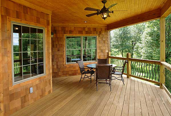 Ranch home designs with porches homesfeed for Back porch ranch