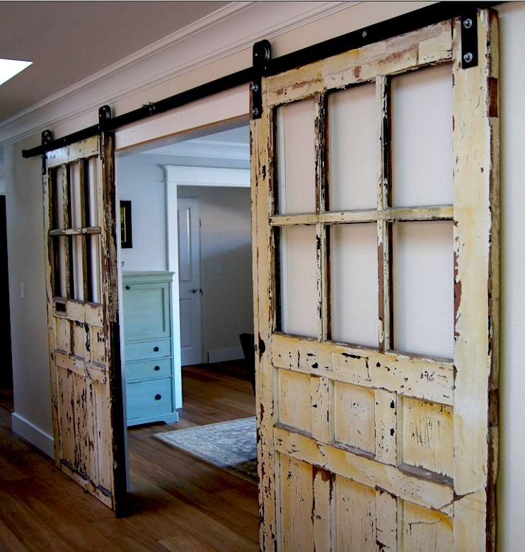 ... How To Make A Rustic Door #28   Rustic White Metal Barn Door Design  With ...