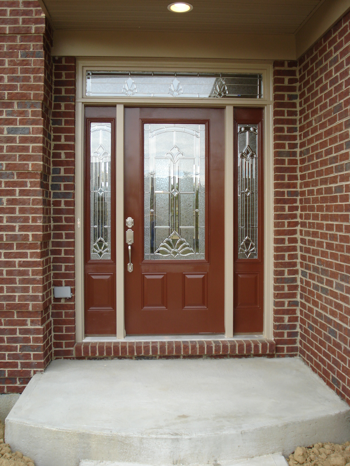 Unique design security doors homesfeed screen door with decorative glass panel and sidelights feature rubansaba