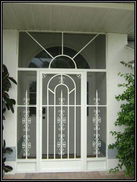 Screen Door With Sideligh Features