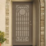 security door with artistic and beautiful crafted panel