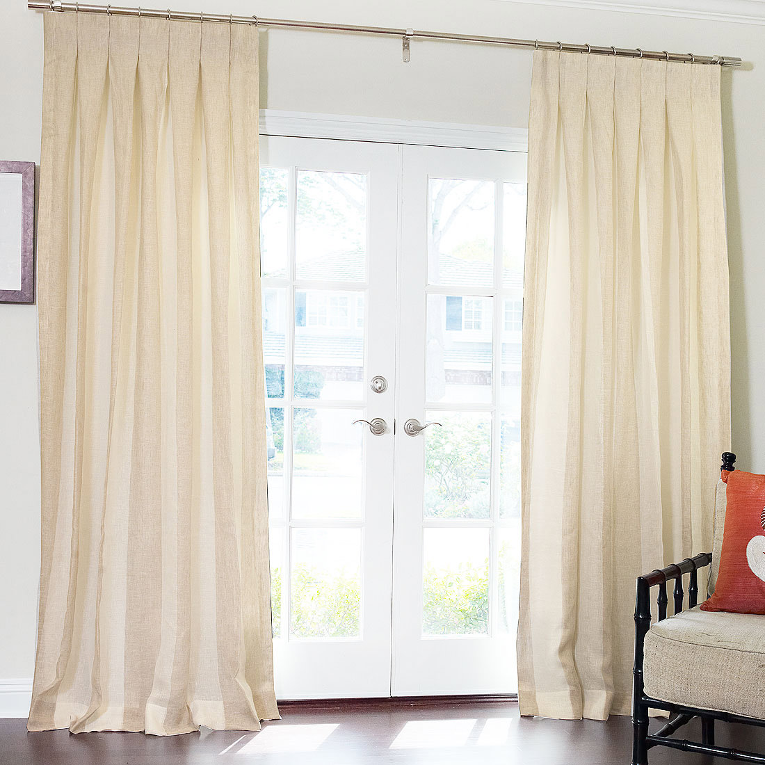 Exterior house color schemes - Inverted Pleat Drapes That Will Smarten Your Window