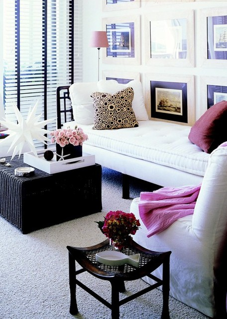 Simple minimalist room design by better homes and gardens with daybed furniture with pillow black square