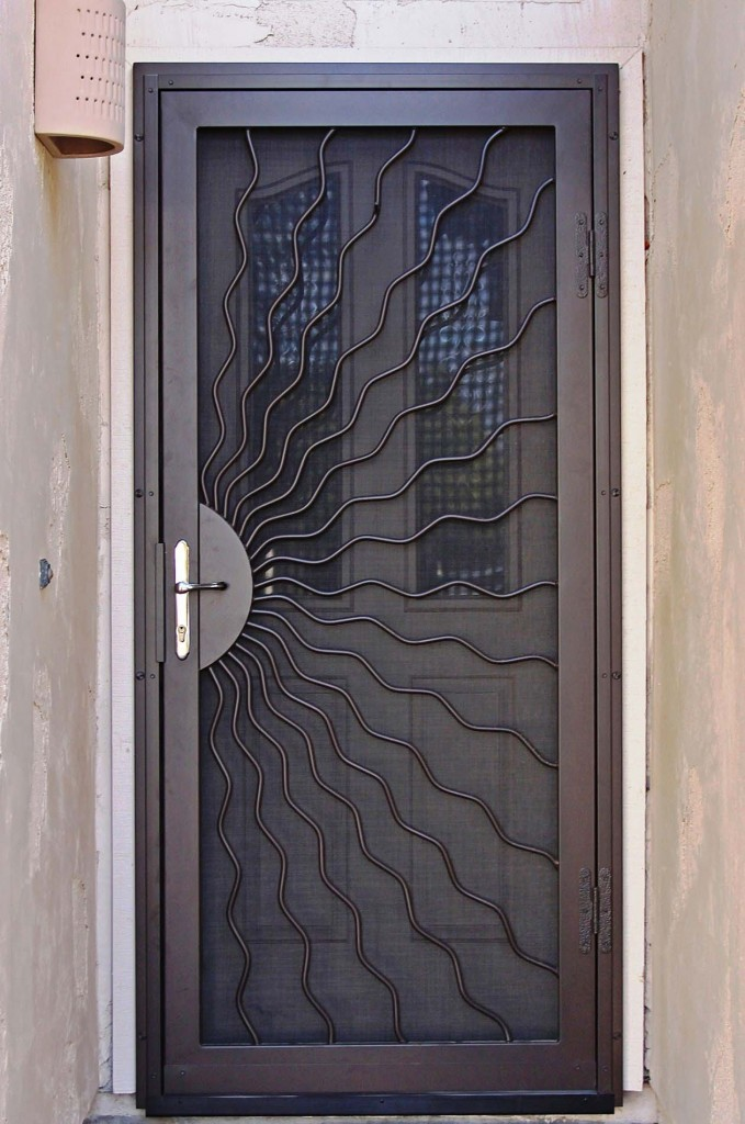 Unique home designs security doors homesfeed for Screen doors for front door