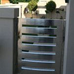 small and low shiny iron gate  for resedential construction
