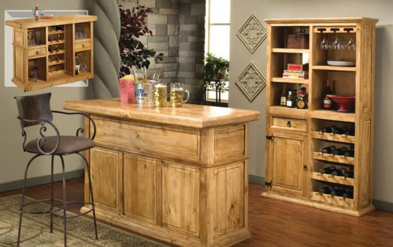 small bar table in rustic style with single barstool a special storage for storing wine collections - Home Bar Designs For Small Spaces