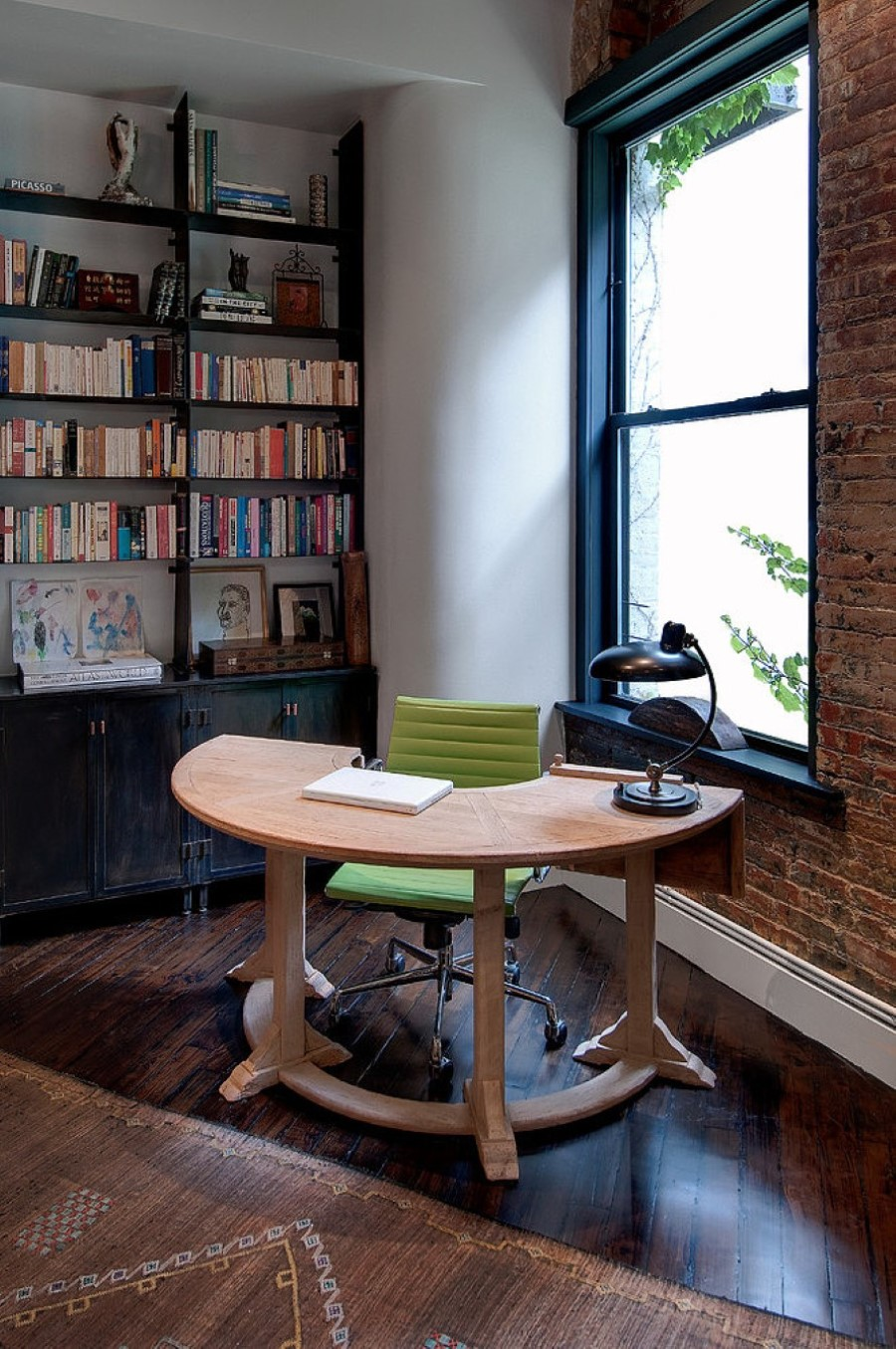Home Office Design Ideas Basement: Touch Your Office With Perfect Fixture Of U Shaped Desk