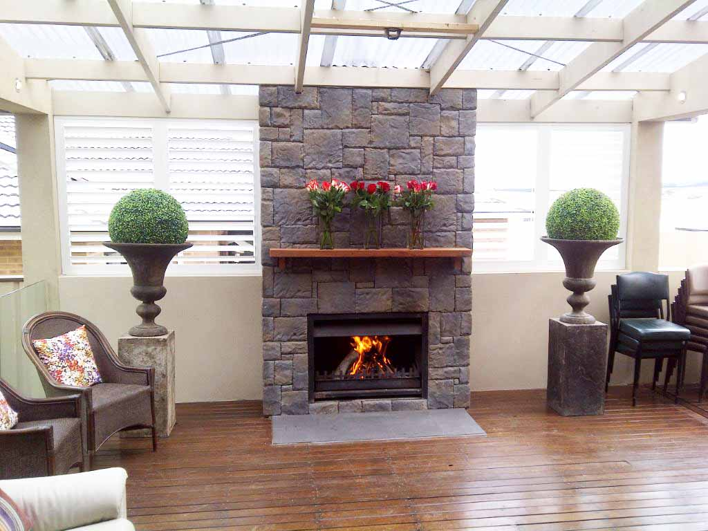 Cedar mantel beautiful accent both to cover and trim - Ideas to cover fireplace opening ...