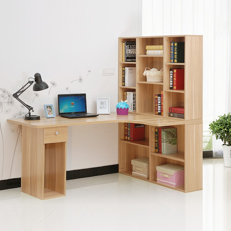 Desk-with-book-shelf - shelf design ideas.