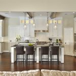 stunning large kitchen islands with seating and storage with comfy chairs and jar pendant lighting plus impressive wooden floor and awesome backsplash