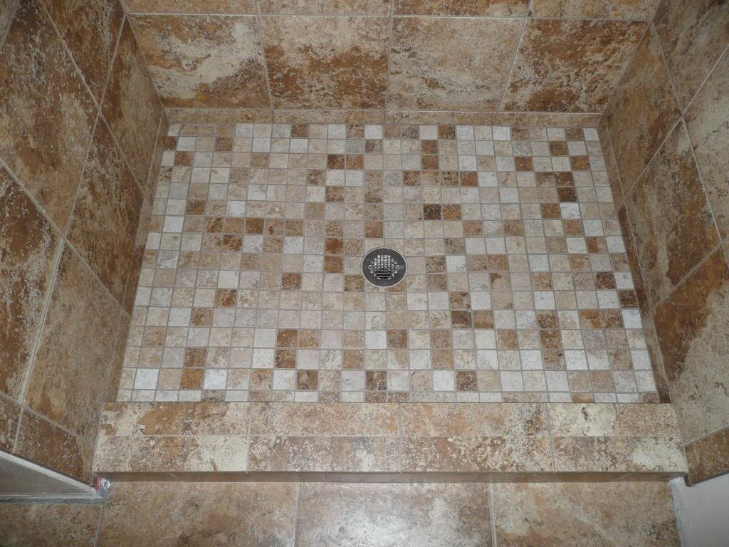 Stylish Best Tile For Shower Floor In Brown Scheme And Tiled Floor