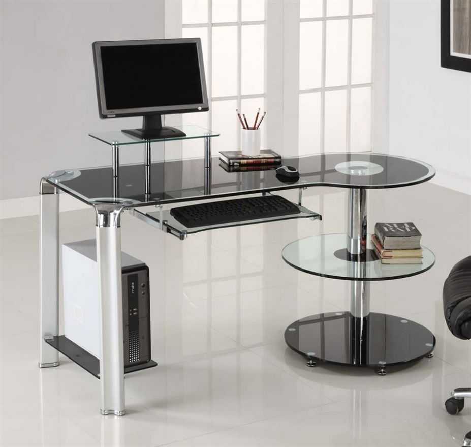 stylish ikea desks for small spaces home office with glass top and floating desk shelf plus - Ikea Modern Home Office