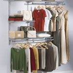 stylish rubbermaid closet ideas with shelf with steel hanging rod for clothes and dress plus cute boxes and hat plus bag storage for home furniture ideas
