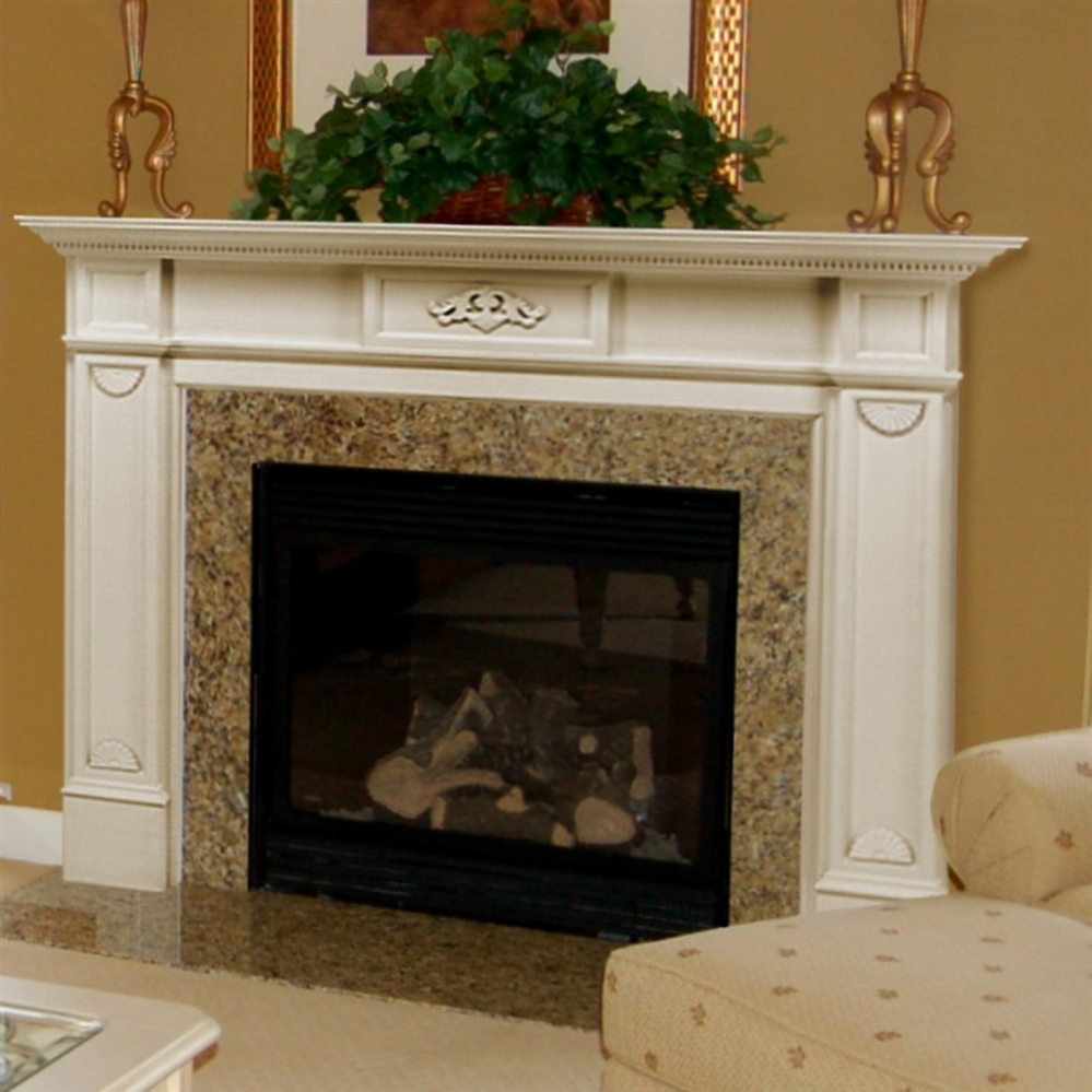 tall fireplace mantel height with white wooden mantel and granite