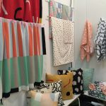 textile products with abstract patterns