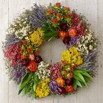 the most beautiful pottery barn wreaths from farm market with colorful flowers