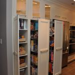 three doors ikea pull out pantry with wooden pull out doors and regular door plus awesome design kitchen furniture