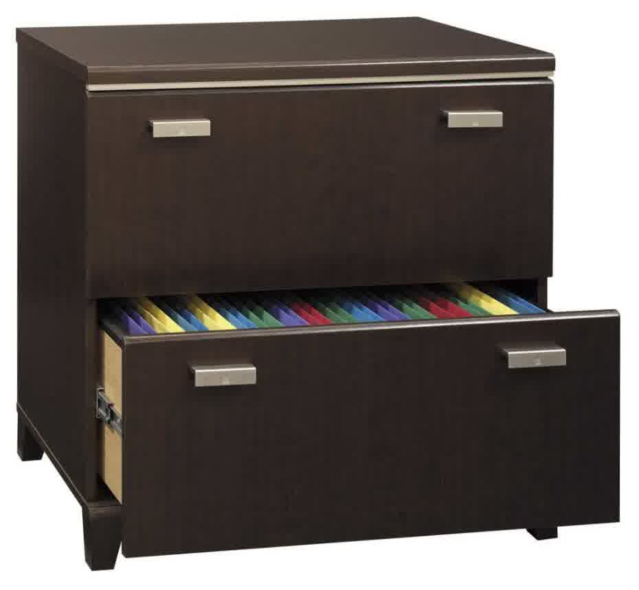 Tiny Wood File Cabinet Ikea With Two Drawers Storage And Steel Handles For  Office Interior Home