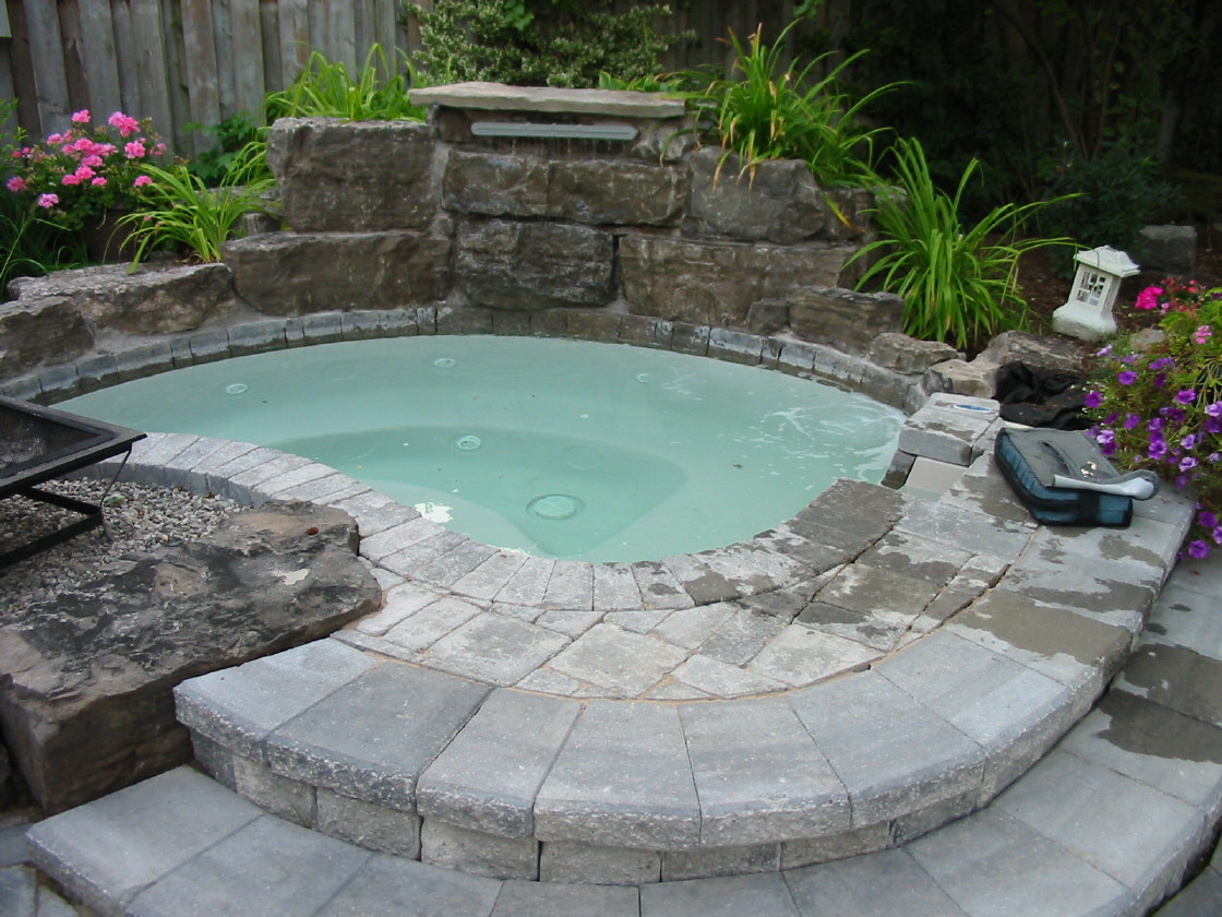 Some stylish modern built in hot tub design that will make for Built in tub