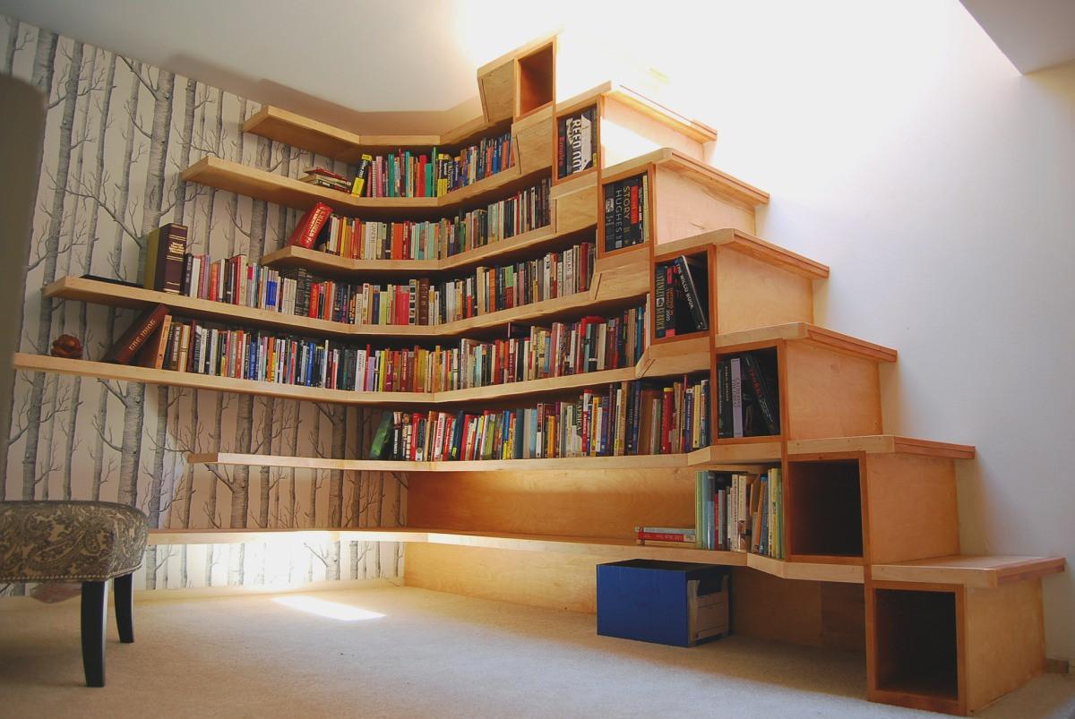 Corner bookshelf ikea brings simplicity into modern interior decoration homesfeed - Book shelf design ...