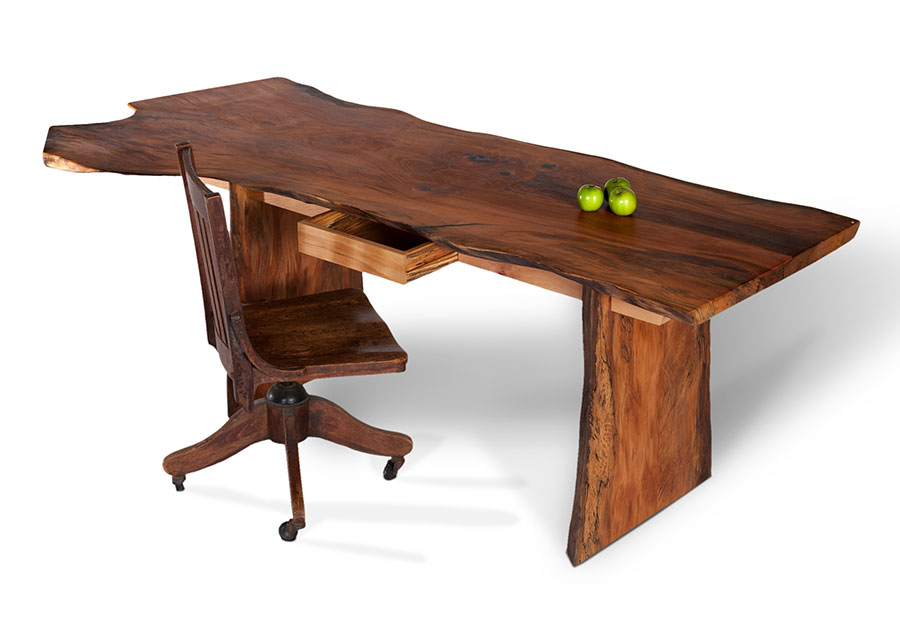 Wooden Office Desk ~ Wood desk tops that present rustic and traditional