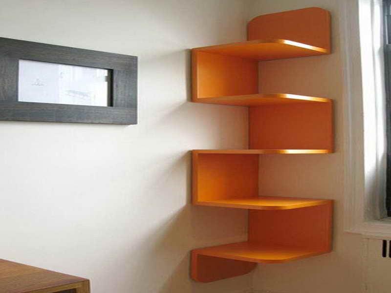 Corner bookshelf ikea brings simplicity into modern - Bookshelf design on wall ...