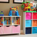 unique storage system for kids' bedroom with animal stuffs and creative toys by Better Homes and Gardens