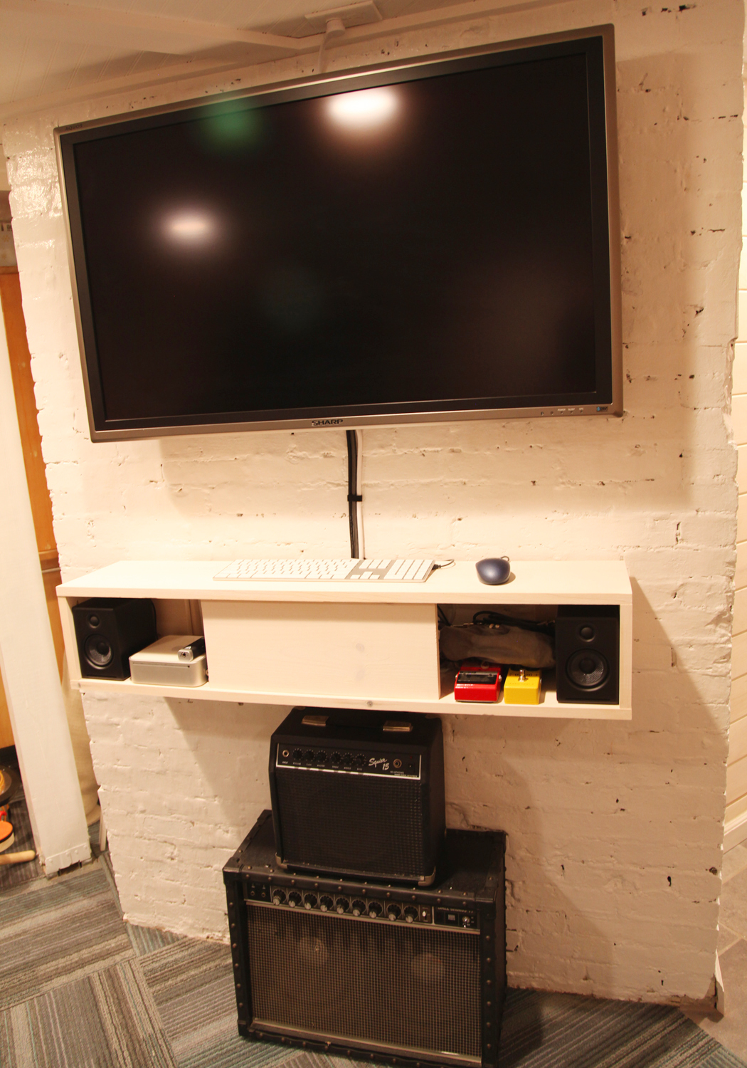 Unique Tv Consoles On Wall Mounted Tv Console With Media Storage Plus  Speaker And Flat Tv