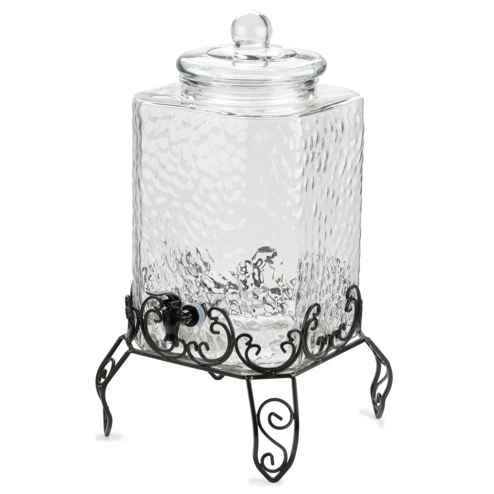 Cheer Up Your Party With A Classy Glass Beverage Dispenser With