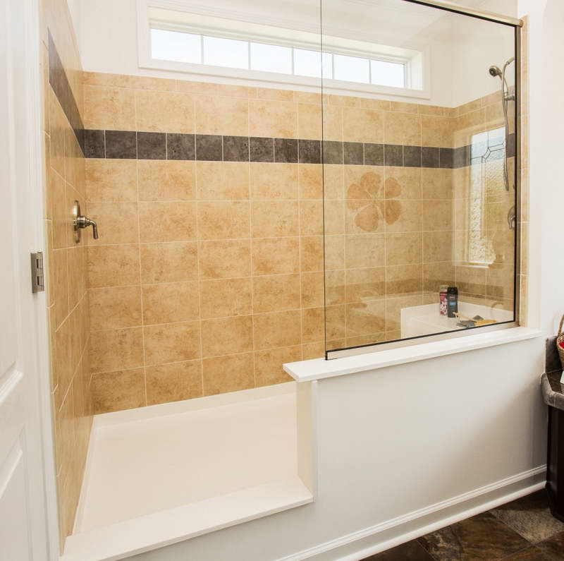 Walk In Showers No Doors With Glass Wall And Tile For Bathroom Plus White Flooring