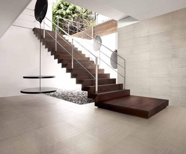 Contemporary home design and floor plan homesfeed Interior tile floor designs