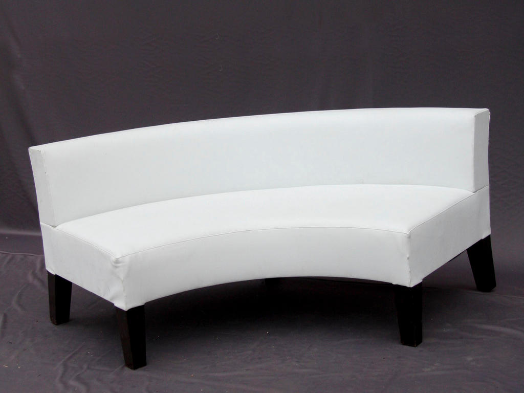 Intimate and Affectionate Dining Atmospheres with Curved  : white curved bench for modern curved banquette seating ideas for home decoration ideas from homesfeed.com size 1024 x 768 jpeg 55kB