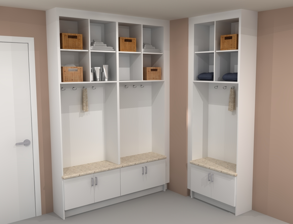 Mudroom Storage Units : Mudroom storage units that will present tidy impression at