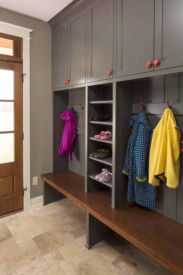Mudroom Storage Units : Simple mudroom storage unit for kids stuffs homesfeed