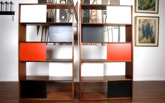 wooden bookcase room separator ikea in minimalist style and artistic wall art plus hardwood flooring home furniture ideas