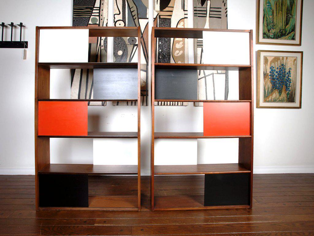 wooden bookcase room separator ikea in minimalist style and artistic wall art plus hardwood flooring home furniture ideas