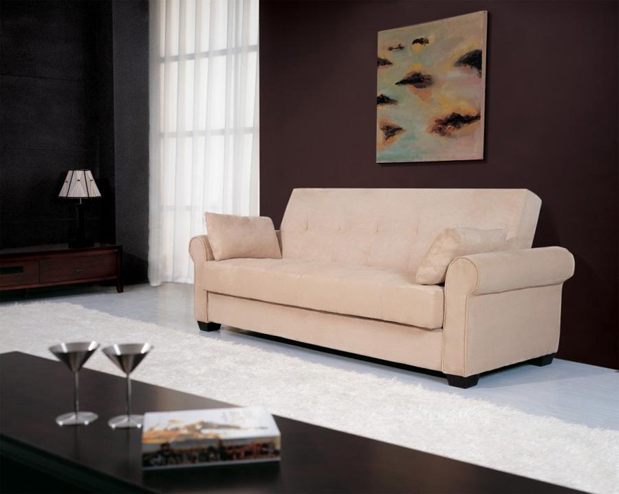 pink comfy sofa on bautiful living room