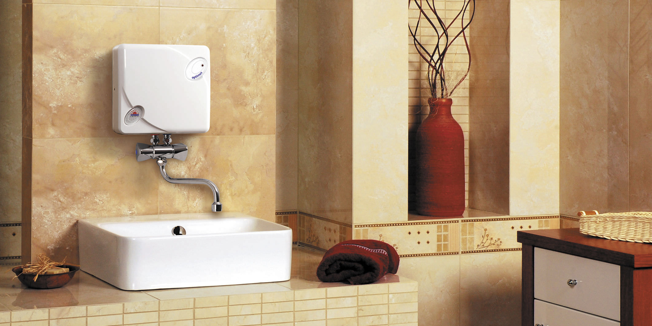 The most simple and stylish water heater in bathroom that for Heat bathroom
