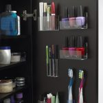 A closet organizer for bathing and make up tools and make up pieces