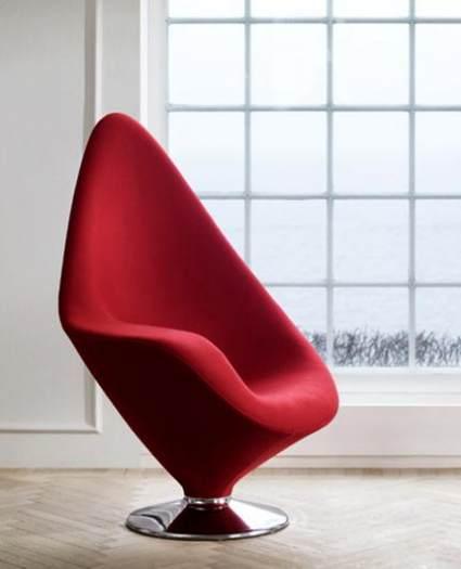 A Futuristic Chair In Red Color
