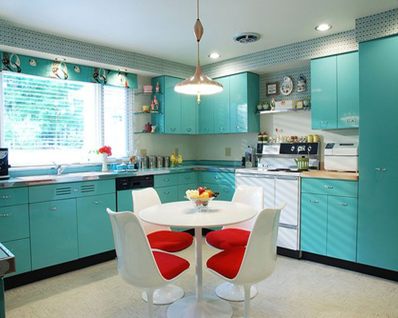 Turquoise Kitchen Design Ideas ~ Turquoise kitchen cabinets for any styles homesfeed
