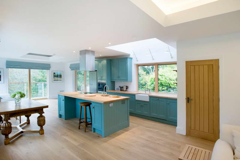 open space for kitchen and dining room teal cabinet system and kitchen